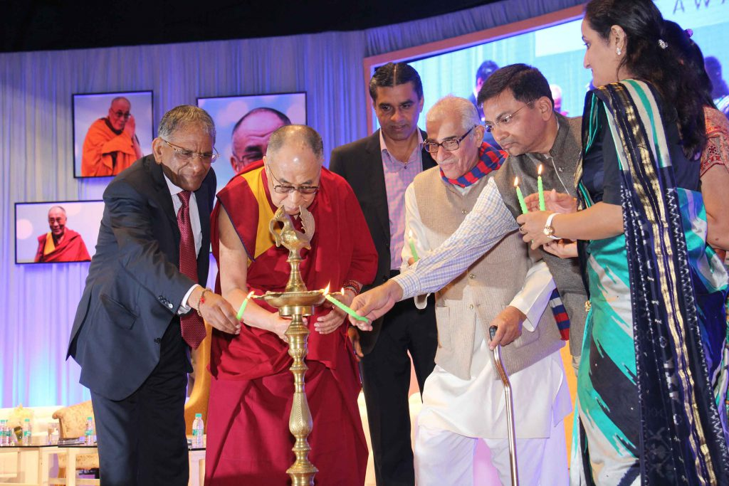 His Holiness the Dalai Lama is inaugurating, the 7th Santokbaa Award function – 2014