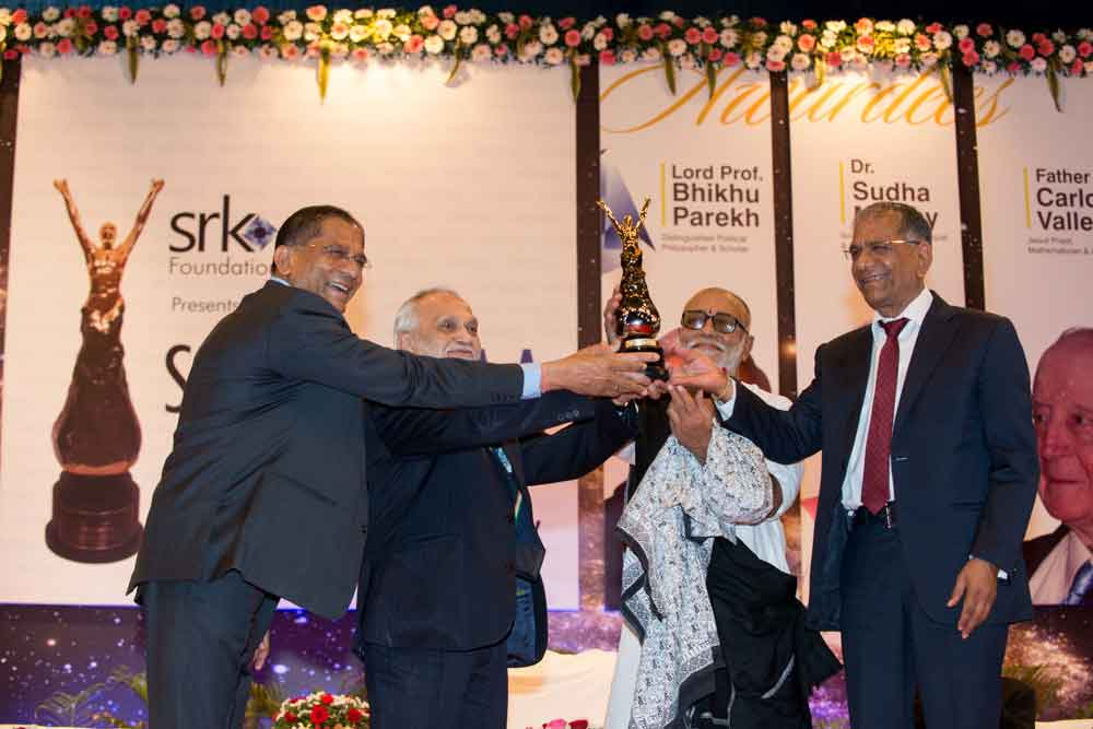 Lord Bhiku Parekh is being honoured with  Santokbaa Award – 2013