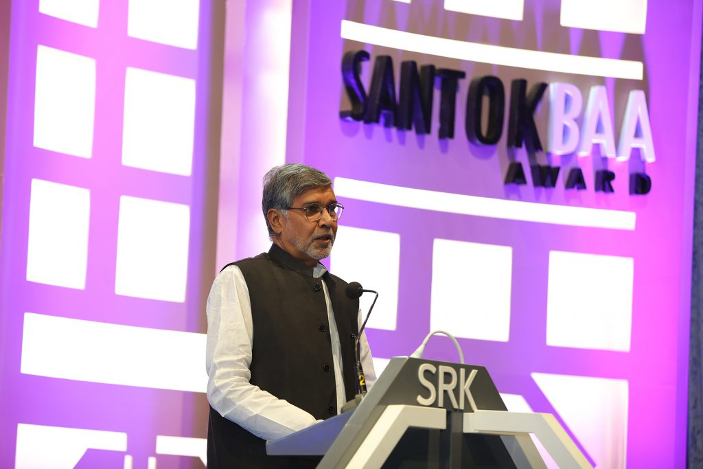 Shri Kailash Satyarthi sharing a  few words